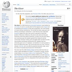 The Giver - Wikipedia