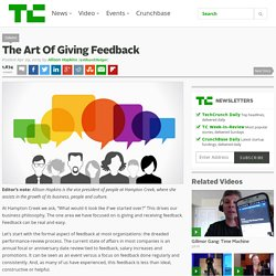 The Art Of Giving Feedback
