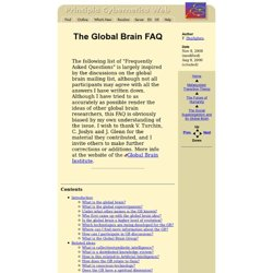 The Global Brain FAQ
