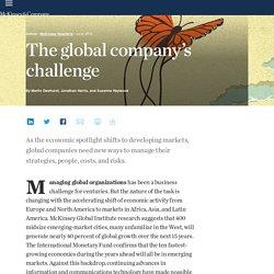 The global company's challenge