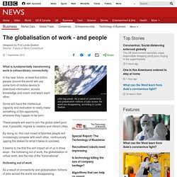 The globalisation of work - and people
