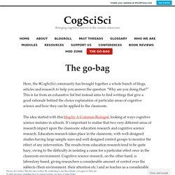 The go-bag – CogSciSci