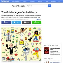The Golden Age of Autodidacts