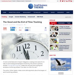 The Good and the Evil of Time Tracking