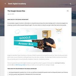 The Google Answer Box