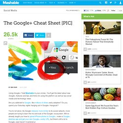 The Google+ Cheat Sheet [PIC]