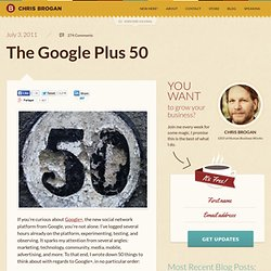 The Google Plus 50