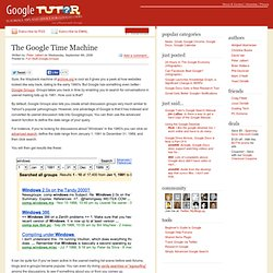 The Google Time Machine