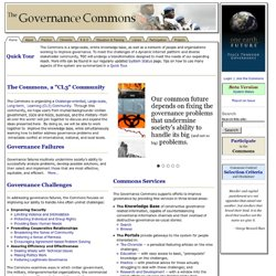 The Governance Commons
