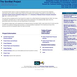 The GovStat Project