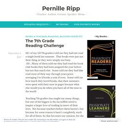 The 7th Grade Reading Challenge