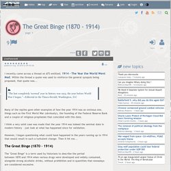 The Great Binge (1870 - 1914), page 1