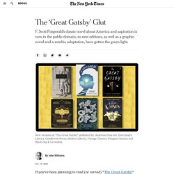 The 'Great Gatsby' Glut
