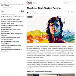 The Great Geek Sexism Debate