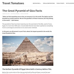The Great Pyramid of Giza Facts