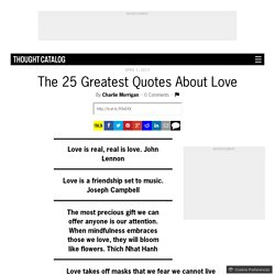 The 25 Greatest Quotes About Love