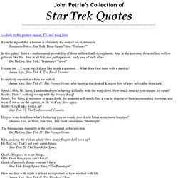 The Greatest Star Trek Quotes
