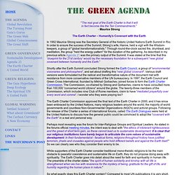 The Green Agenda - The Earth Charter