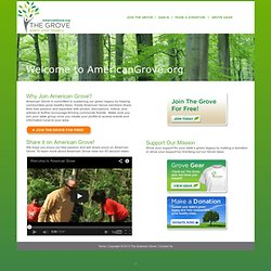 The Grove: An online community created to engage and encourage citizens to plant trees and protect the urban tree canopy.