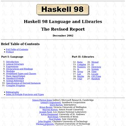 The Haskell 98 Language Report - Contains Prelude