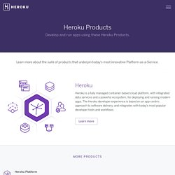 The Heroku product suite
