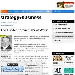 The Hidden Curriculum of Work
