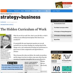 The Hidden Curriculum of Work
