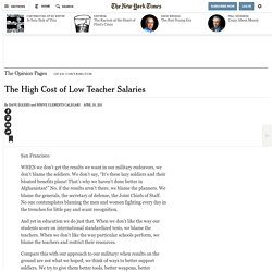 The High Cost of Low Teacher Salaries