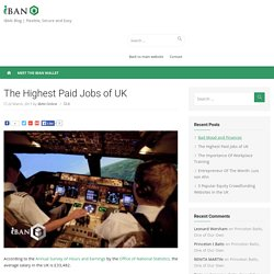 The Highest Paid Jobs of UK -