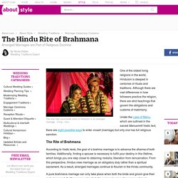 The Hindu Rite of Brahmana