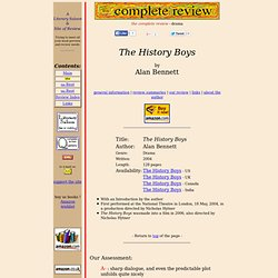 the history boys coursework Modern history resources and worksheets covering the first world war, world war 2, the cold war, nazi germany, russia, international relations and more.