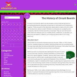 The History of Circuit Boards
