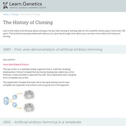 The History of Cloning