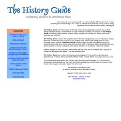 The History Guide -- Main