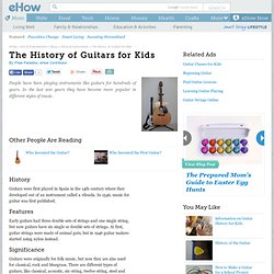 The History of Guitars for Kids