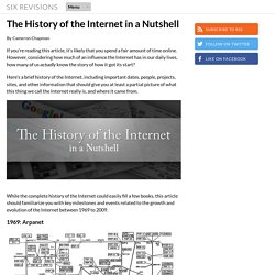 The History of the Internet in a Nutshell