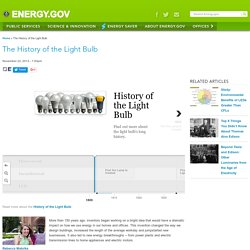 The History of the Light Bulb