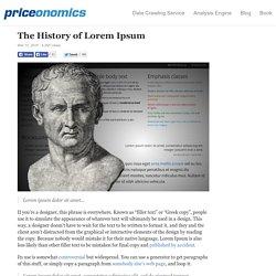 The History of Lorem Ipsum