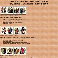 The History of Costume - Index #1