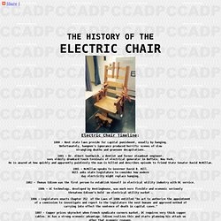 THE HISTORY OF THE ELECTRIC CHAIR