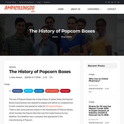 The History of Popcorn Boxes