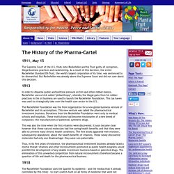 The History of the Pharma-Cartel