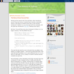 The History of Python