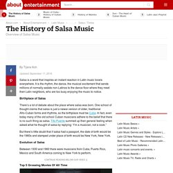 The History of Salsa Music