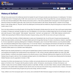 The History Of Softball. Who Invented Softball?