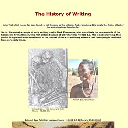 The History of Writing