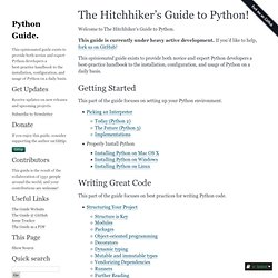 The Hitchhikers Guide to Python! — pythonguide 0.0.1 documentation