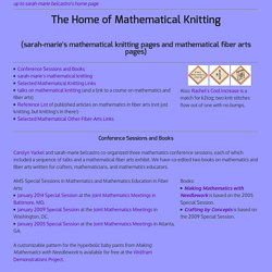 The Home of Mathematical Knitting