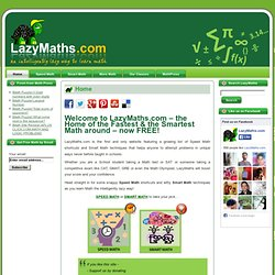 The Home of Speed Math and Smart Math