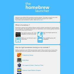 The Homebrew Launcher - 3DS
